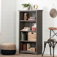 4-Shelf Storage Bookcase - Gray Maple