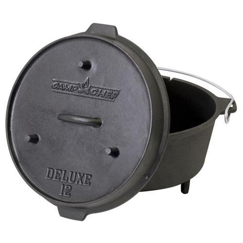"12"" Cast Iron Deluxe Dutch Oven"