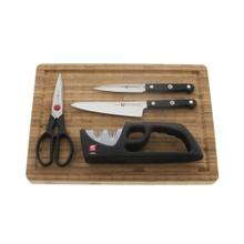 ZWILLING Gourmet 5-pc Knife & Cutting Board Set