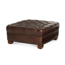 See Details - Leather Cocktail Ottoman - Opt1