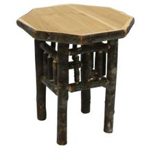 Octagon End Table - Natural Hickory