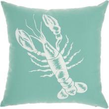 "Outdoor Pillows L0032 Aqua 18"" X 18"" Throw Pillow"