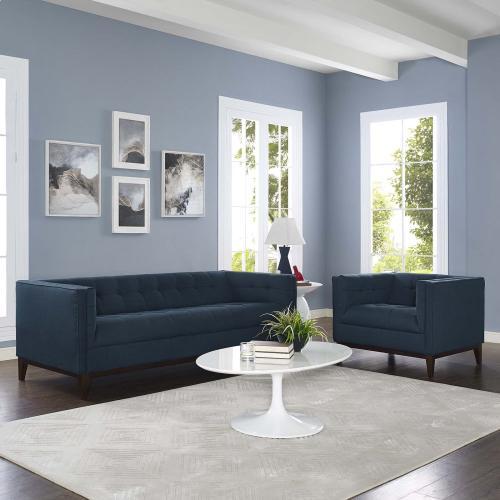Serve Living Room Set Set of 2 in Azure