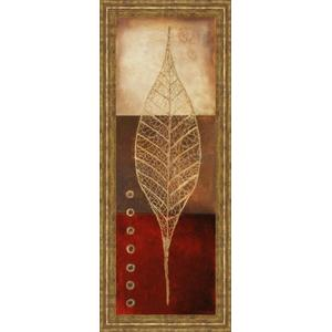 """Classy Art - """"Fossil Leaves Il"""" By Patricia Pinto Framed Print Wall Art"""