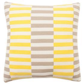Multi Blocks Pillow - Stone / Yellow / Natural