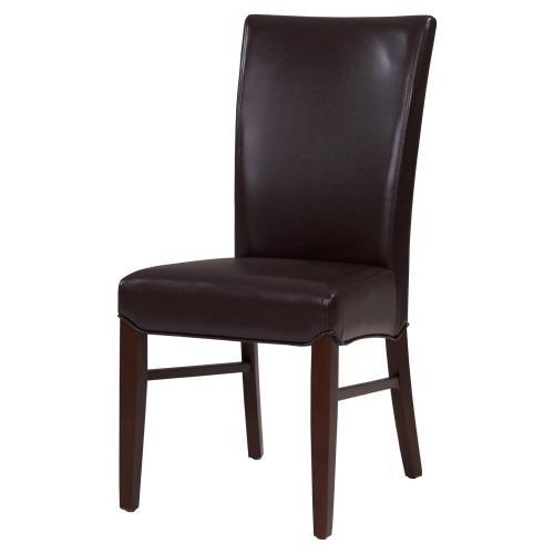 Milton Bonded Leather Chair, Coffee Bean