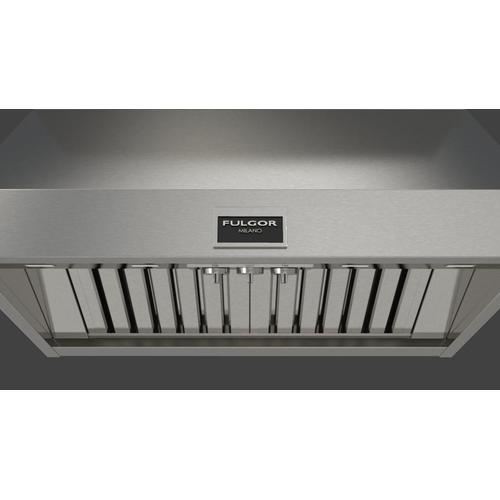 "36"" Pro Wall-mount Hood (2 Fan - Knobs) - Stainless Steel"