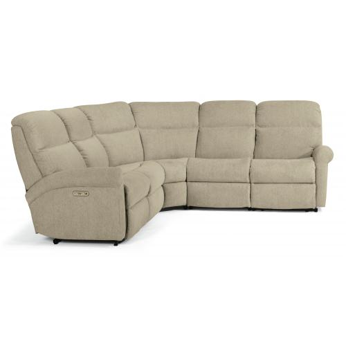 Davis Power Reclining Sectional with Power Headrests