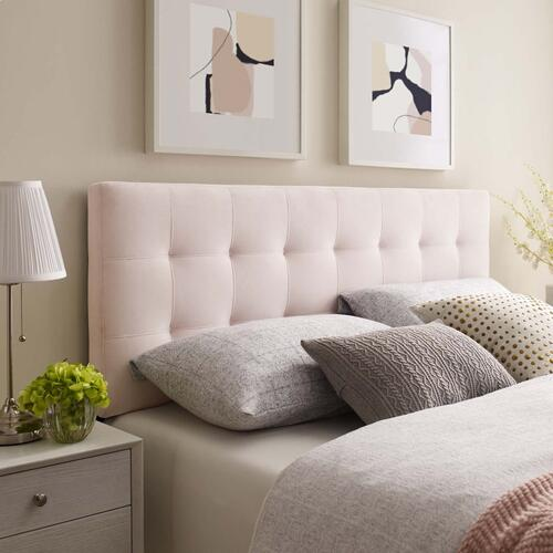 Lily King Biscuit Tufted Performance Velvet Headboard in Pink