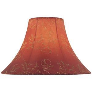"""Red Jacquard Bell Shade - 6""""tx16""""bx12""""sh"""