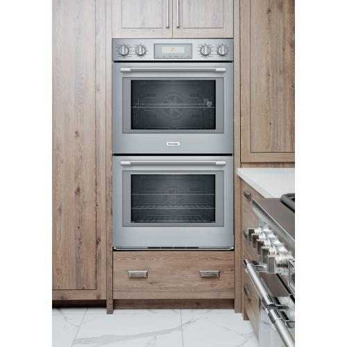 Thermador - Double Wall Oven 30'' Stainless Steel POD302W