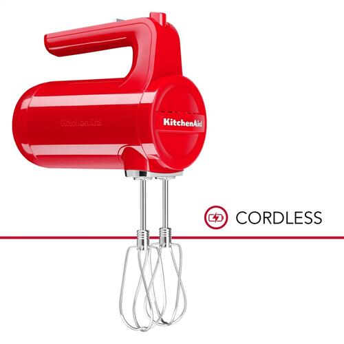 Cordless 7 Speed Hand Mixer - Passion Red