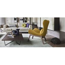 PU foam design armchair with wooden base