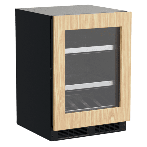 Gallery - 24-In Professional Built-In Beverage Center With Reversible Hinge with Door Style - Panel Ready Frame Glass