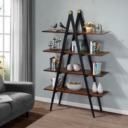A-Frame Multi-toned Bookcase in Walnut
