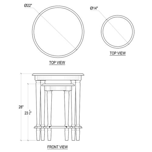 Gallery - Parsons Round Nesting Tables