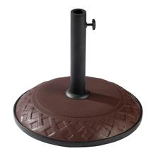 View Product - Resin Compound Basket Weave Umbrella Base - Chocolate