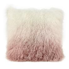Tibetan Sheep Pillow White to Blush