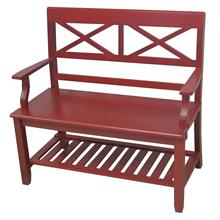 Double X Back Bench in Red
