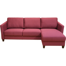 Monika Sectional Chaise Sleeper loveseat + Chaise - Full size bed with storage in chaise