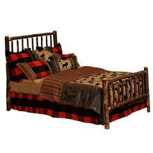 Traditional Bed - King - Natural Hickory