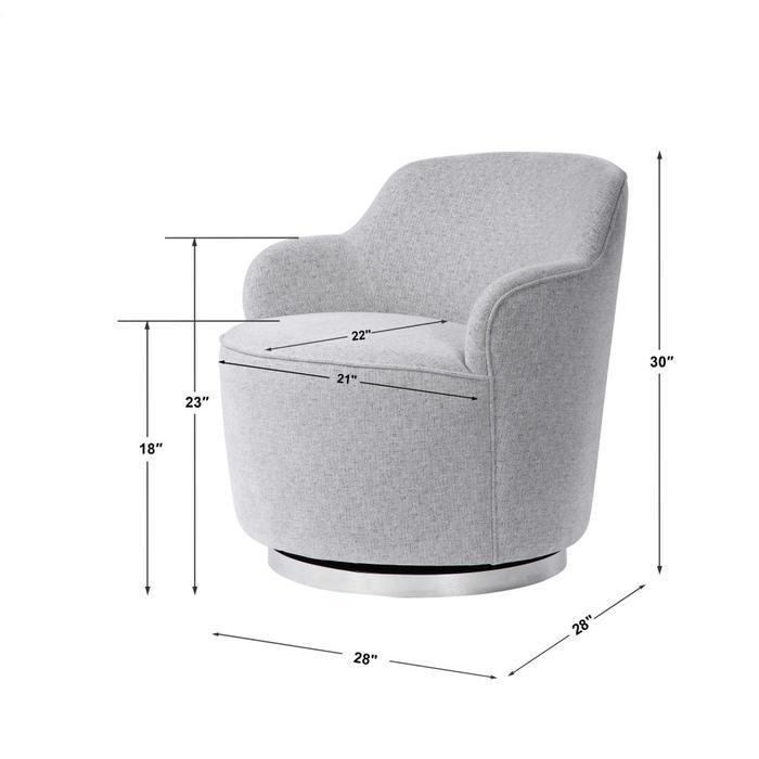 Uttermost - Hobart Swivel Chair