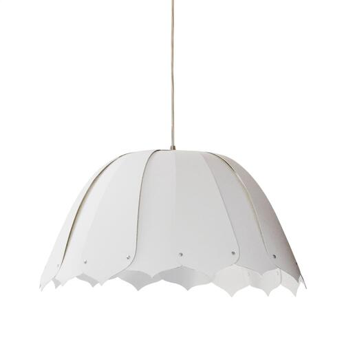 1lt Noa Pendant Jtone Wht, Small Polished Chrome