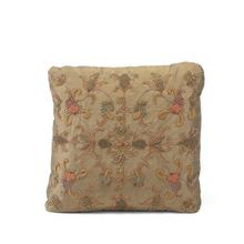 Caramel Heavily Embroidered Pillow
