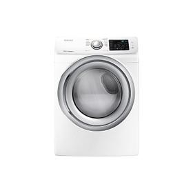 7.5 cu. ft. Electric Dryer with Steam in White