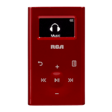 Ultra compact 4GB digital audio player (red)