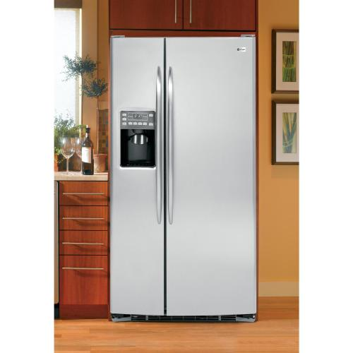 Out of Box Gently Dented GE Profile Series 23.1 Cu. Ft. Side-by-Side Refrigerator