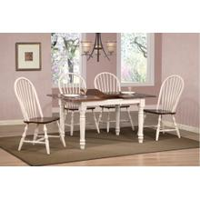 DLU-TLB3660-C30-AW5PC  Andrews 5 Piece Butterfly Dining Set Windsor Spindleback Chairs