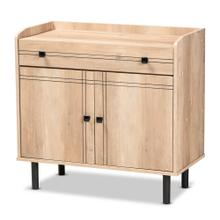 See Details - Baxton Studio Patterson Modern and Contemporary Oak Brown Finished Wood 2-Door Kitchen Storage Cabinet