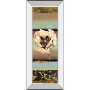 """Elemental Poppy I"" By Selina Werbelow Mirror Framed Print Wall Art"