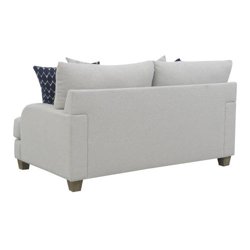 Emerald Home Laney Loveseat W/ 4 Accent Pillows Grey