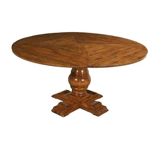 """Lorts - 48"""" Round Dining Table Top with Pedestal Base and (4) Side Chairs Set"""