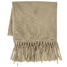 Diane Embossed Velvet Throw Blanket - 2 Colors - Oatmeal