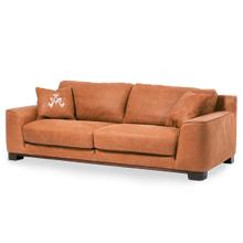 Nafelli Leather Sofa in Clay Espresso