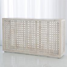 Driftwood Lattice Console