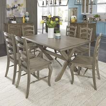 Mountain Lodge Rectangular Trestle Dining Table & 6 Chairs
