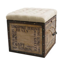 See Details - Tufted City Crate Storage Ottoman