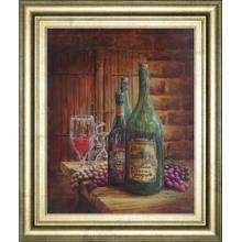 """Vintage Wine Ill"" Framed Print Wall Art"
