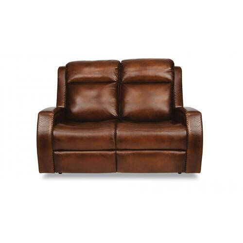 Mustang Power Reclining Loveseat with Power Headrests