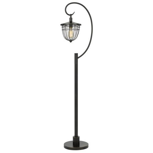 60W Alma metal/glass downbridge lantern style floor lamp (Edison bulb included)