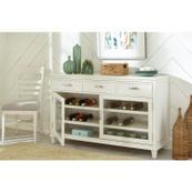 Osborne - Upholstered Ladderback Side Chair - Winter White Finish