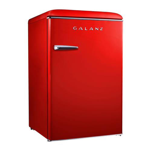 Galanz - Galanz 3.1 Cu Ft Retro Upright Freezer in Hot Rod Red