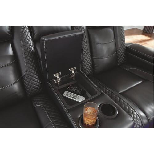 Party Time Power Reclining Loveseat With Console