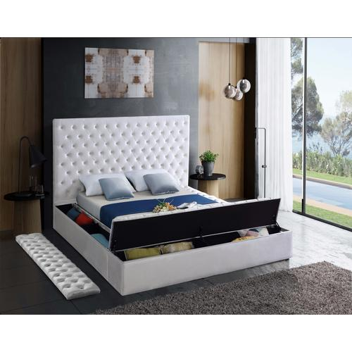 "Bliss Velvet Bed - 86"" W x 98"" D x 60.5"" H"