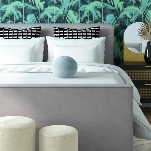 """Tov Furniture - Boba 9"""" Sea Blue Velvet Pillow"""