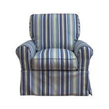 Horizon Slipcovered Box Cushion Swivel Rocking Chair - Beach Striped - 395245